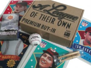 A LEAGUE OF THEIR OWN - PROMO USA BOXSET w/ SIGNED BASEBALL